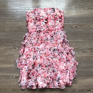 White House Black Market Confetti Ruffle Dress